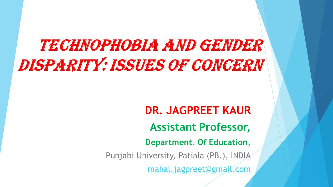Technophobia and Gender Disparity: Issues of Concern