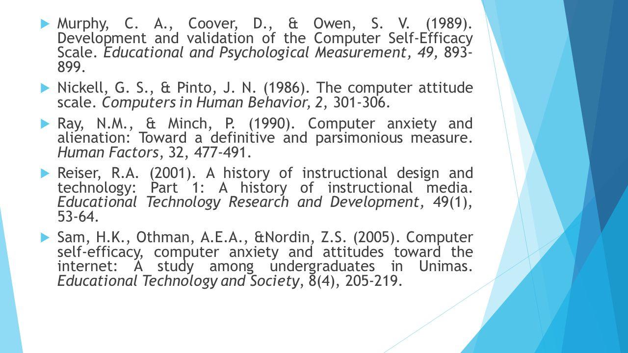 Murphy, C. A. , Coover, D. , & Owen, S. V. (1989)
