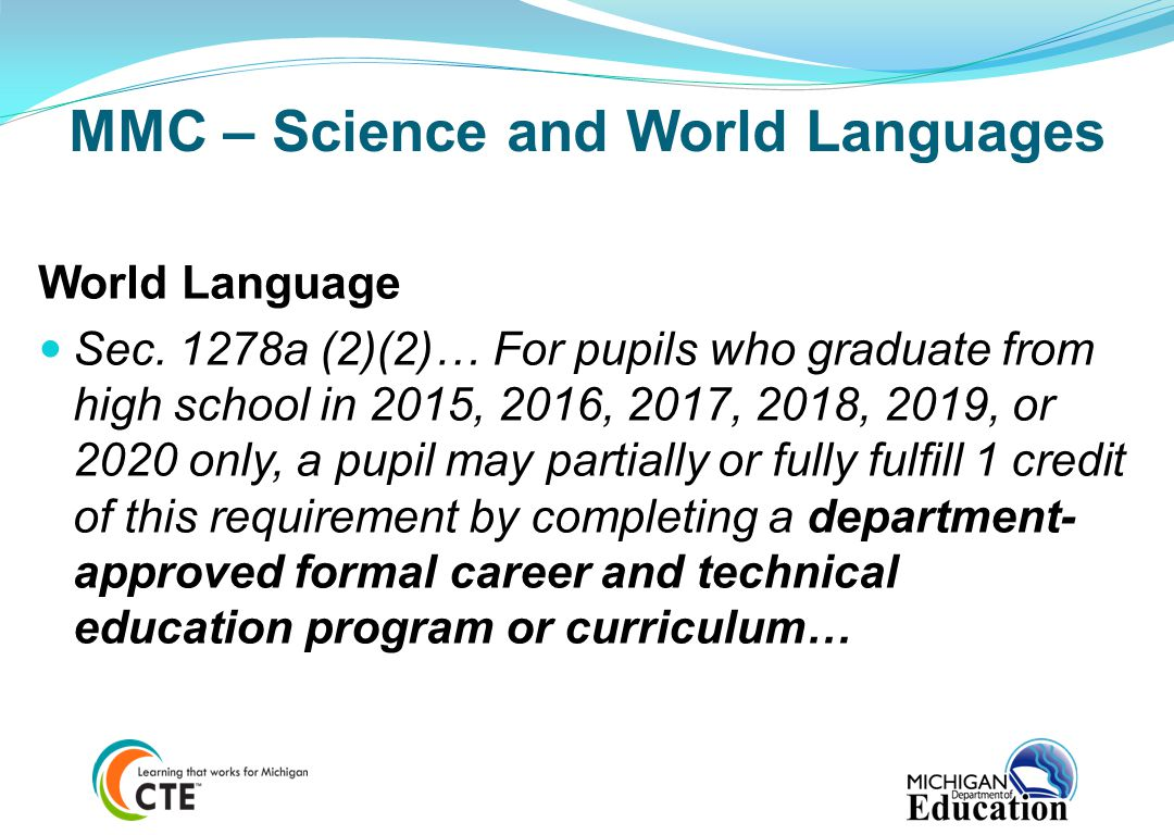 MMC – Science and World Languages