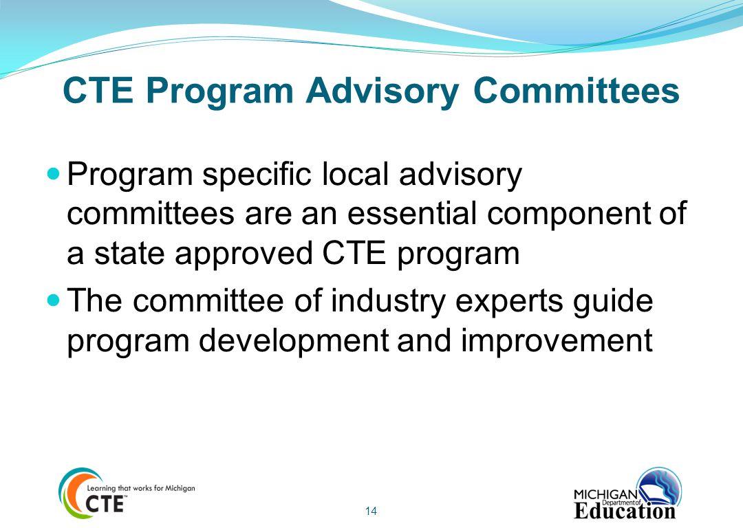 CTE Program Advisory Committees