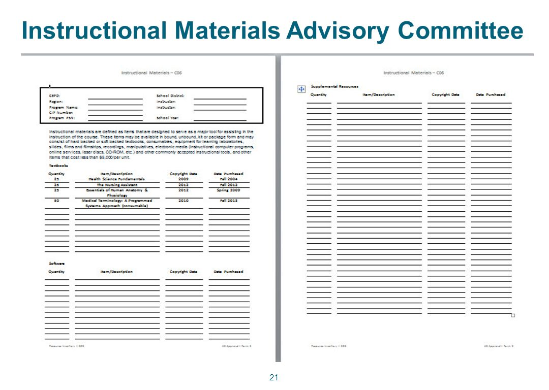 Instructional Materials Advisory Committee