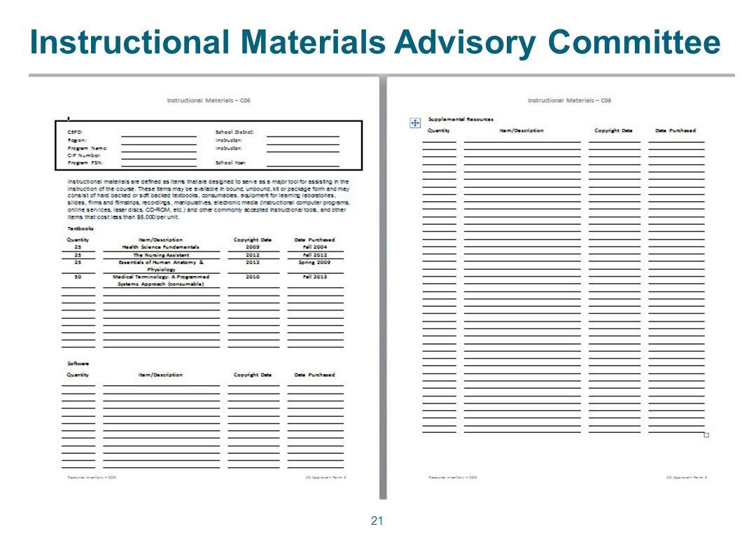 Instructional Materials Advisory Committee