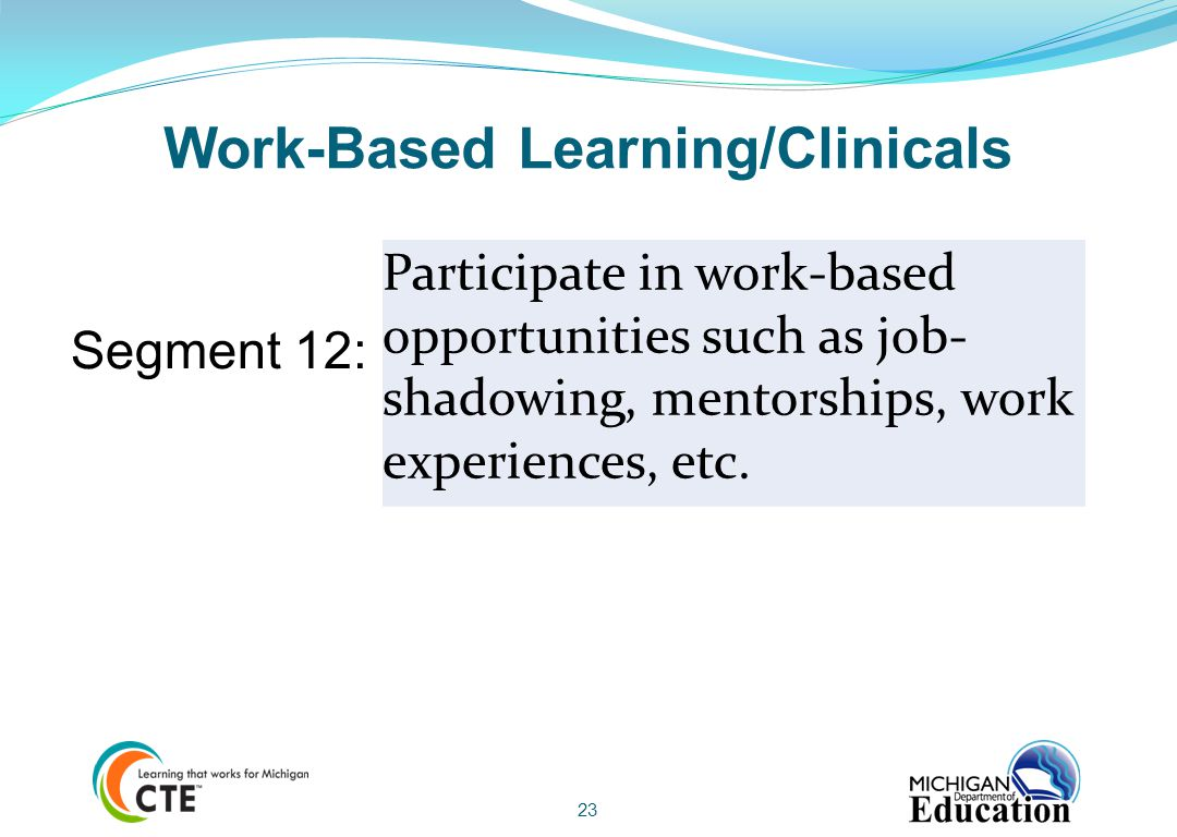 Work-Based Learning/Clinicals