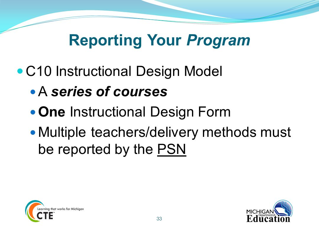 Reporting Your Program