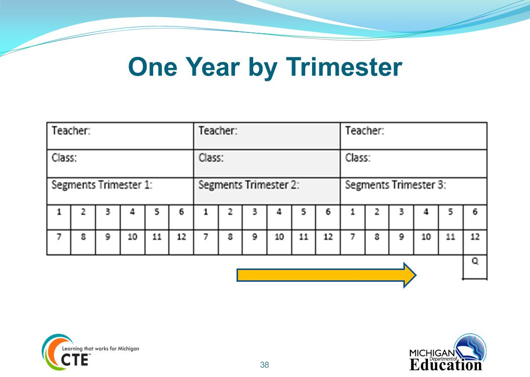 One Year by Trimester