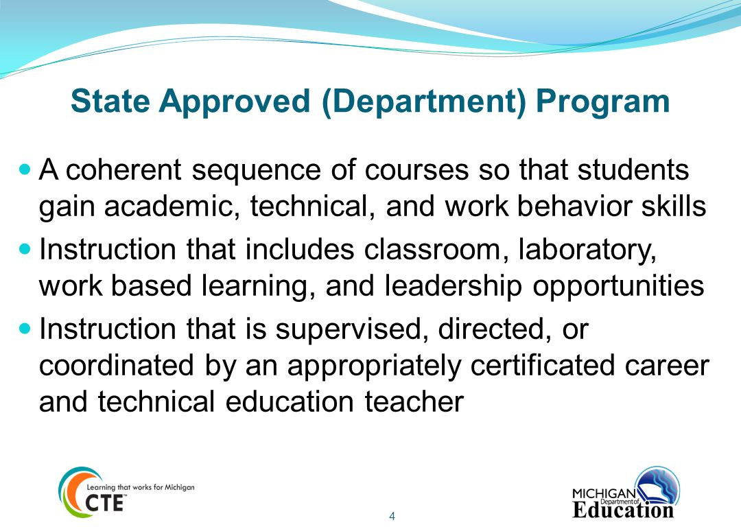 State Approved (Department) Program
