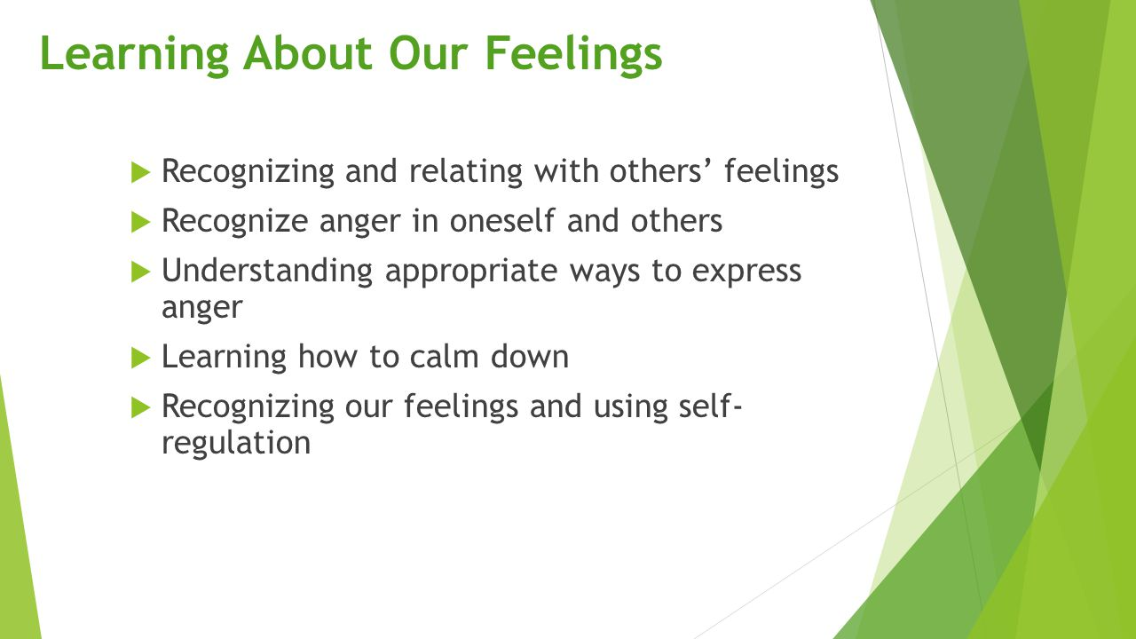 Learning About Our Feelings