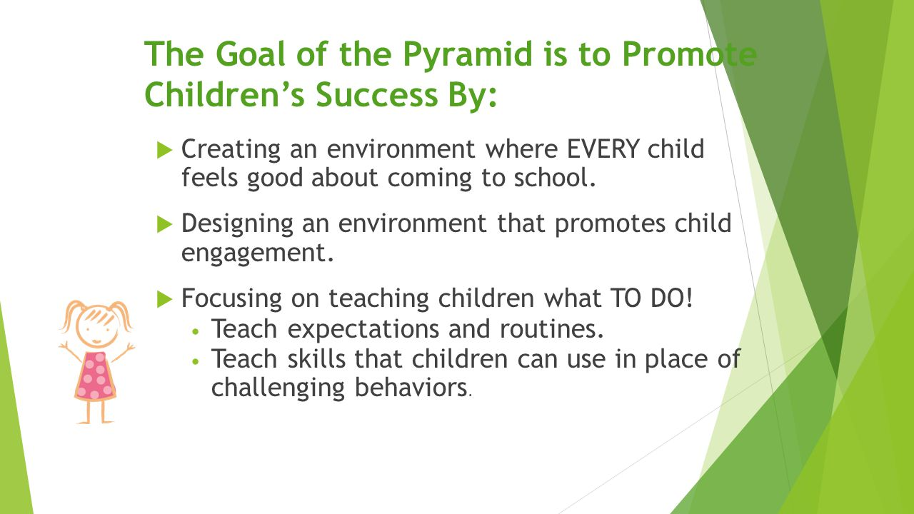 The Goal of the Pyramid is to Promote Children's Success By: