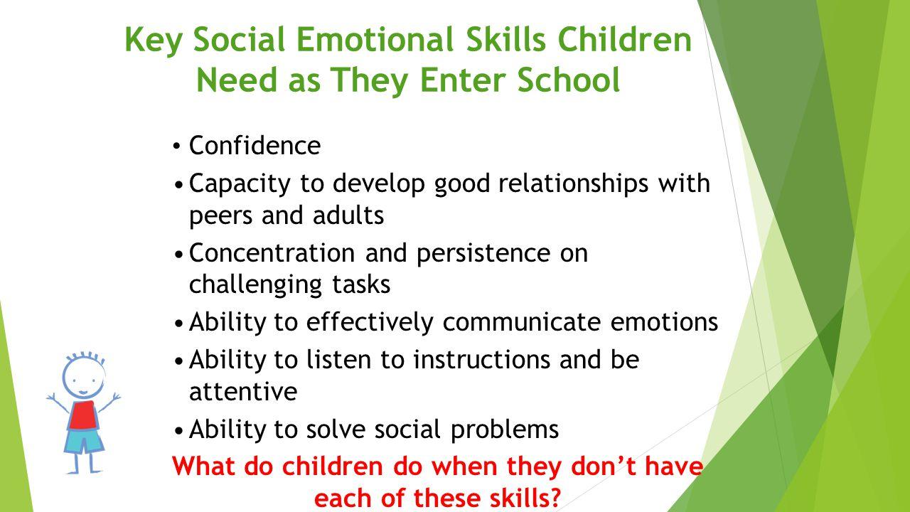 Key Social Emotional Skills Children Need as They Enter School