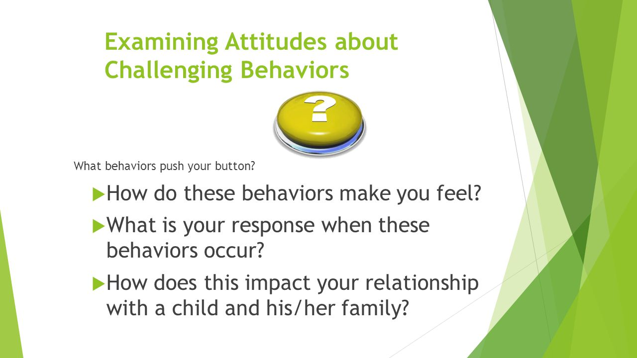 Examining Attitudes about Challenging Behaviors