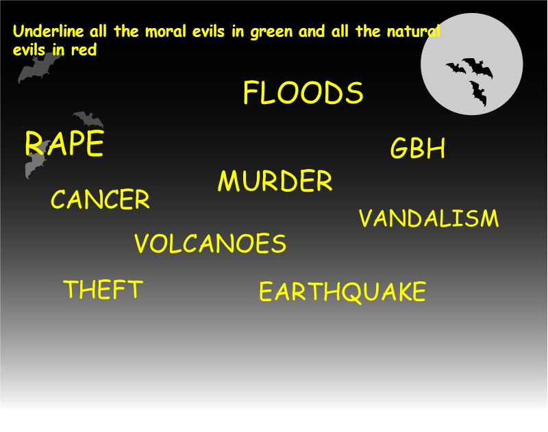 RAPE FLOODS MURDER GBH CANCER VOLCANOES THEFT EARTHQUAKE VANDALISM