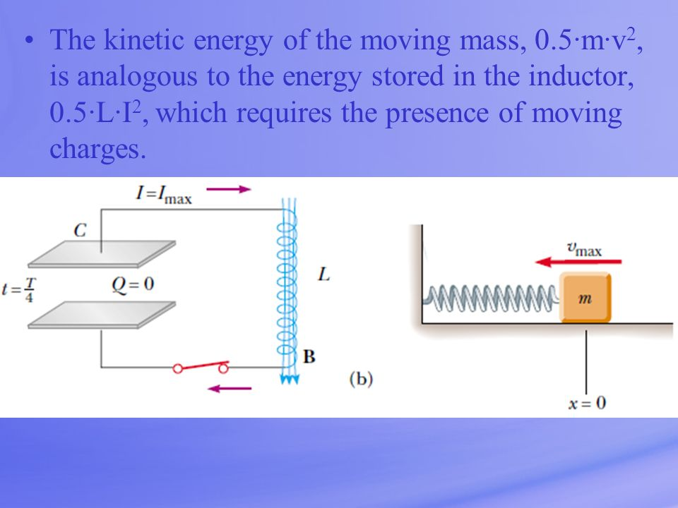 The kinetic energy of the moving mass, 0