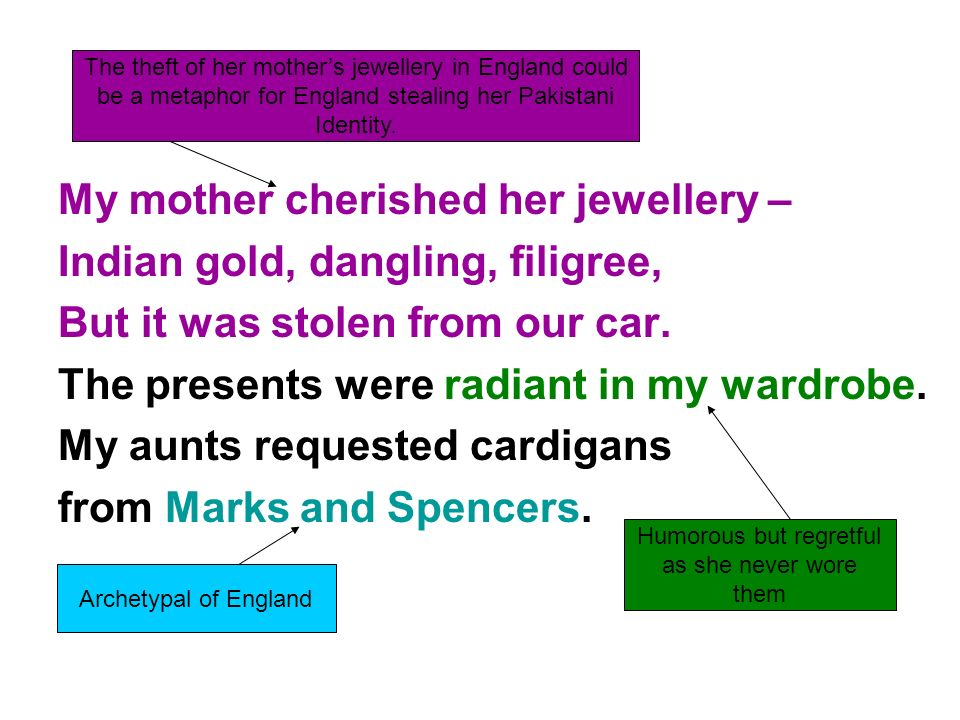 My mother cherished her jewellery – Indian gold, dangling, filigree,