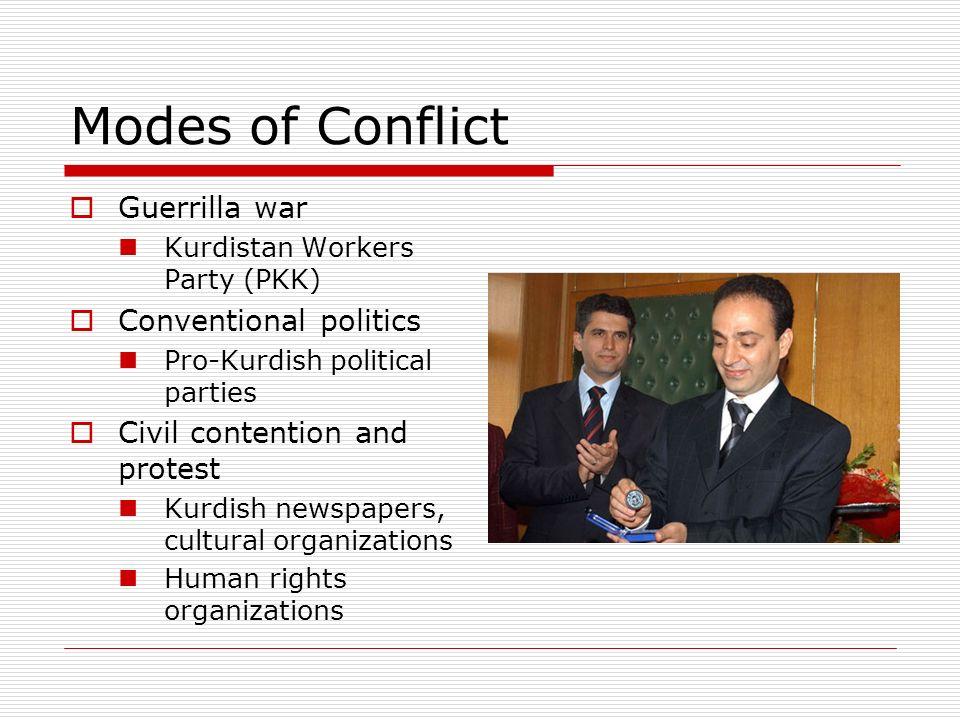 Modes of Conflict Guerrilla war Conventional politics
