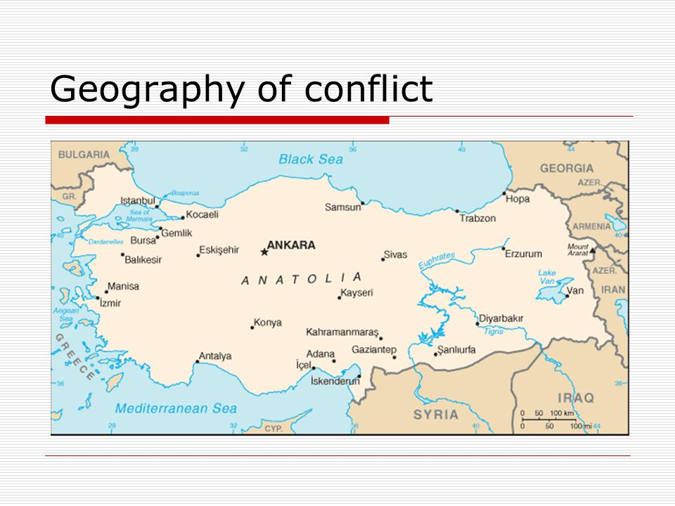 Geography of conflict