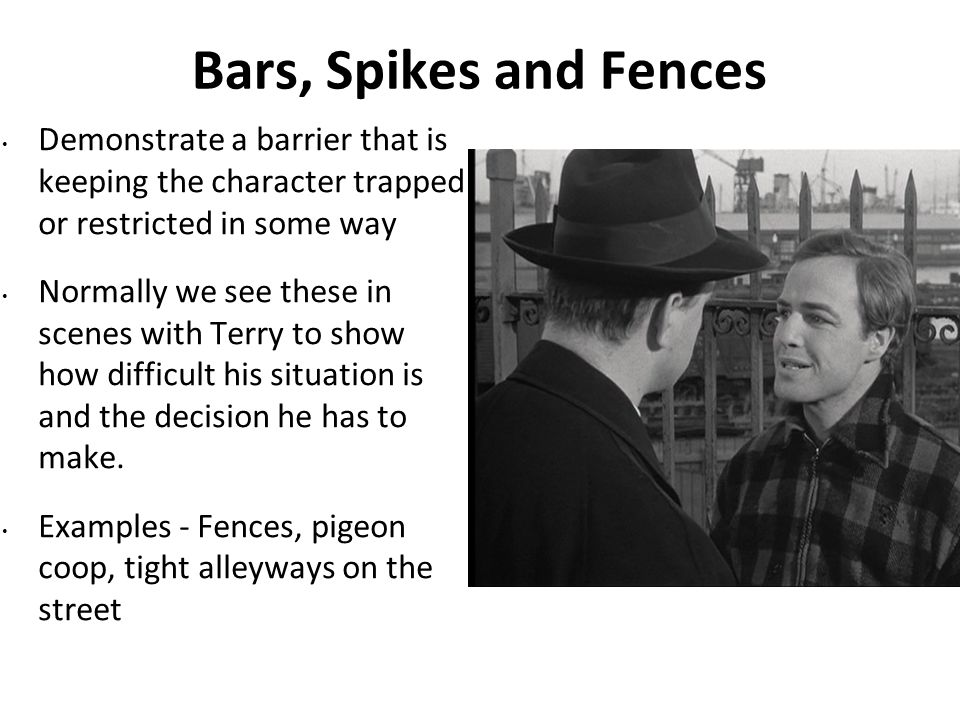 Bars, Spikes and Fences Demonstrate a barrier that is keeping the character trapped or restricted in some way.