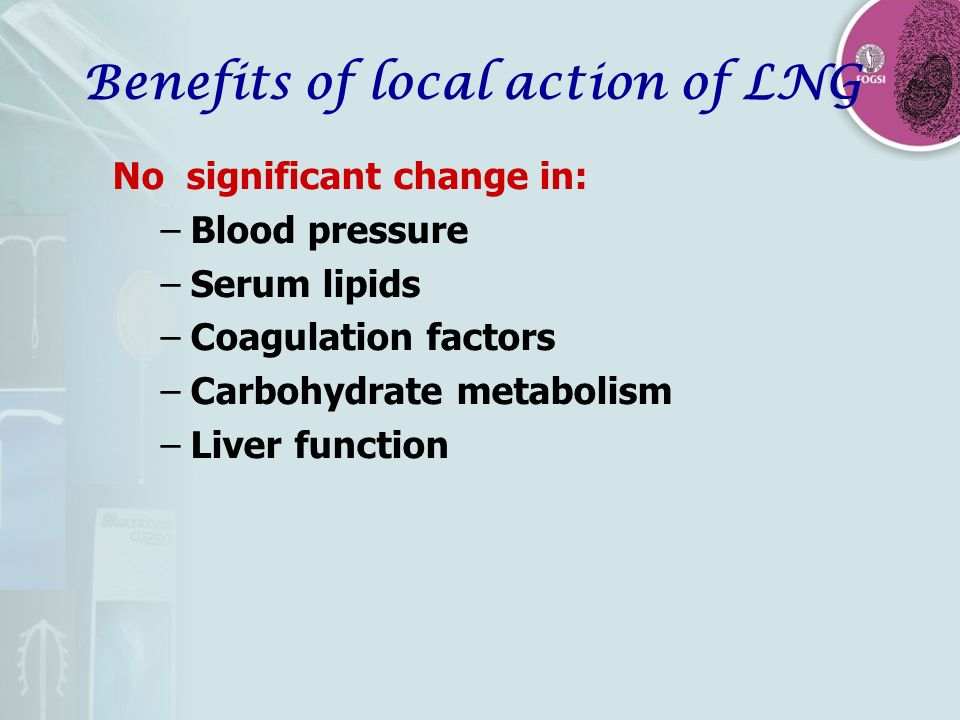 Benefits of local action of LNG