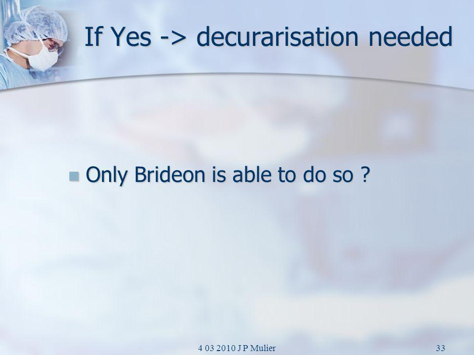 If Yes -> decurarisation needed