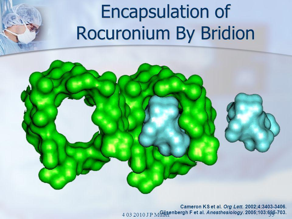 Encapsulation of Rocuronium By Bridion