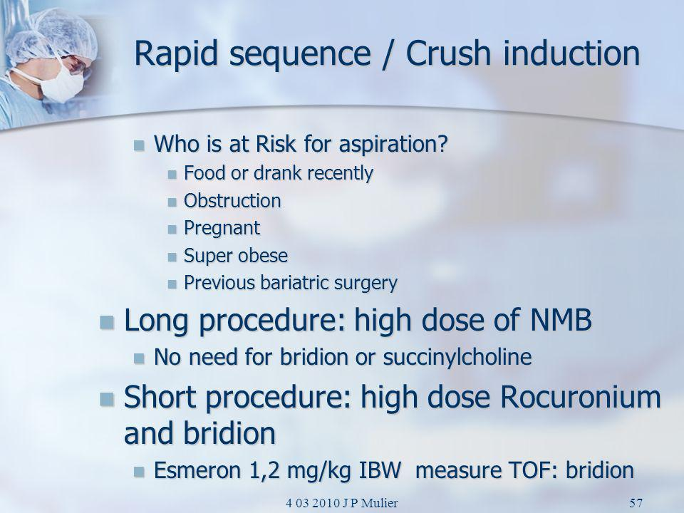 Rapid sequence / Crush induction