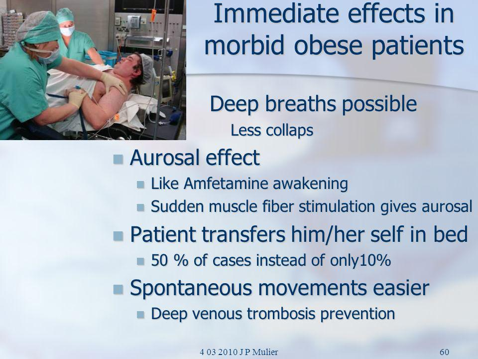 Immediate effects in morbid obese patients