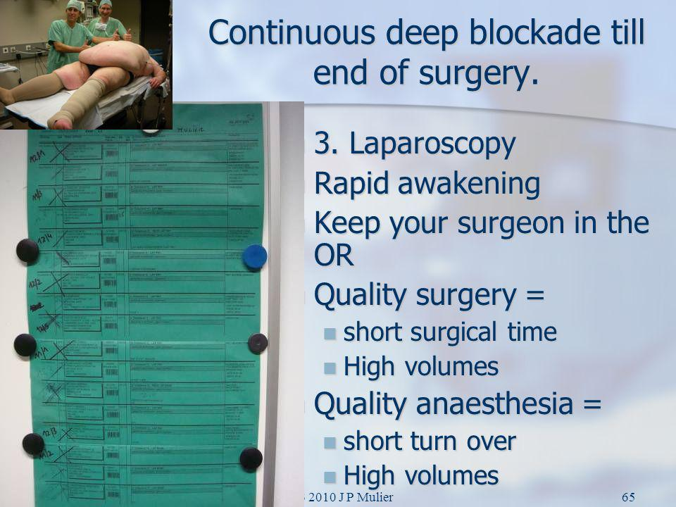 Continuous deep blockade till end of surgery.