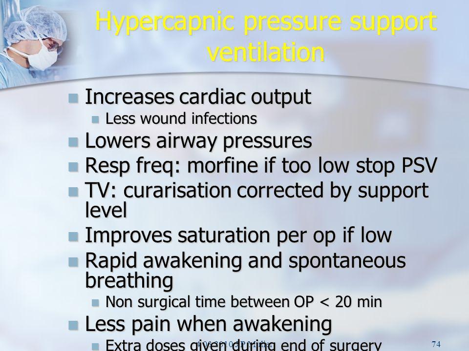 Hypercapnic pressure support ventilation