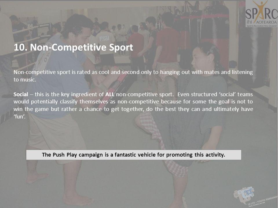 10. Non-Competitive Sport