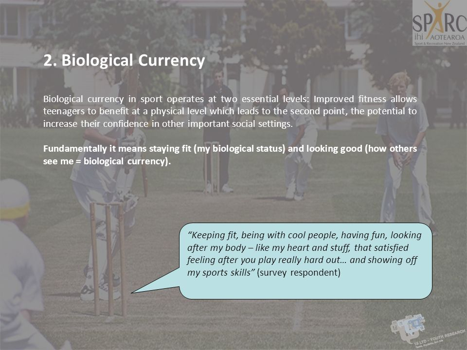 2. Biological Currency