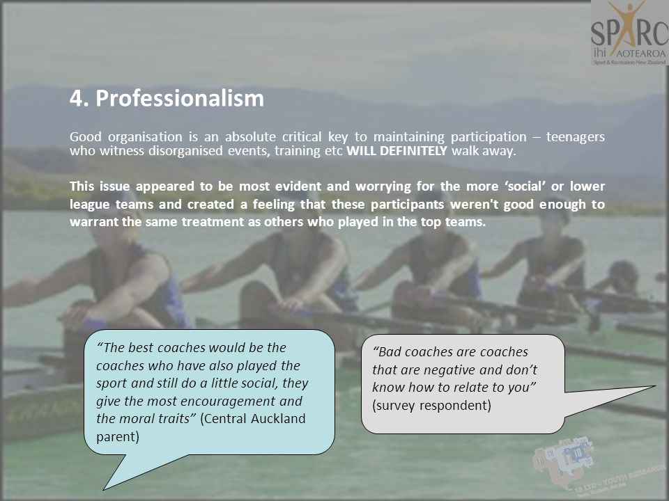 4. Professionalism
