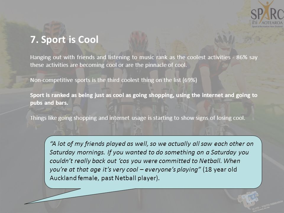 7. Sport is Cool