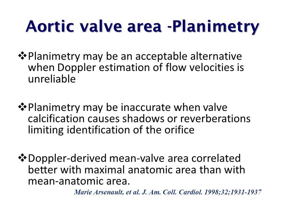 Aortic valve area -Planimetry