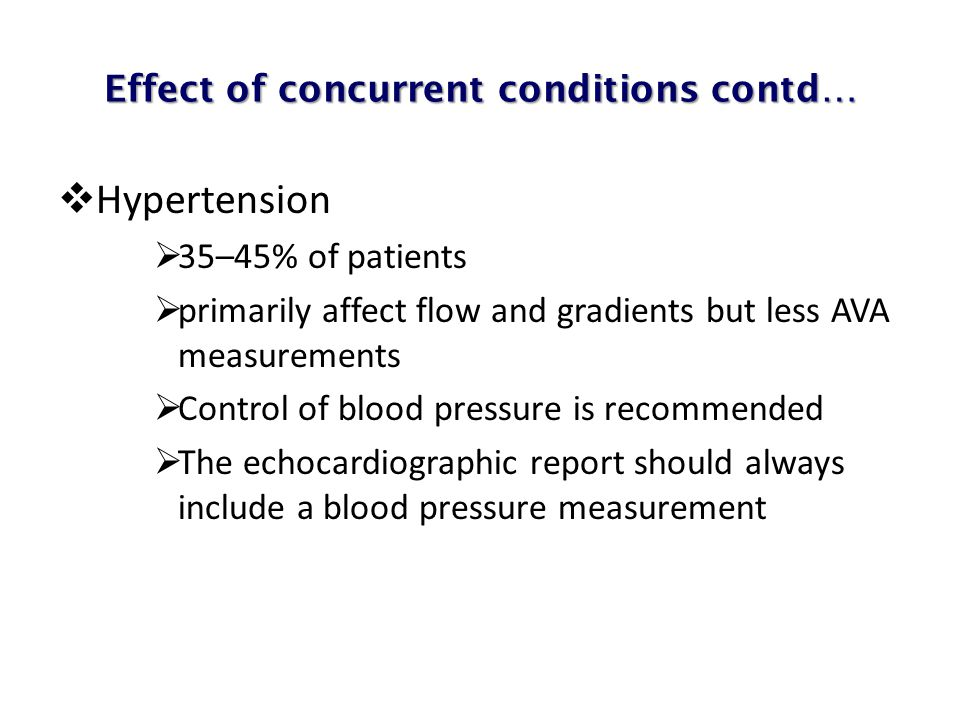 Effect of concurrent conditions contd…