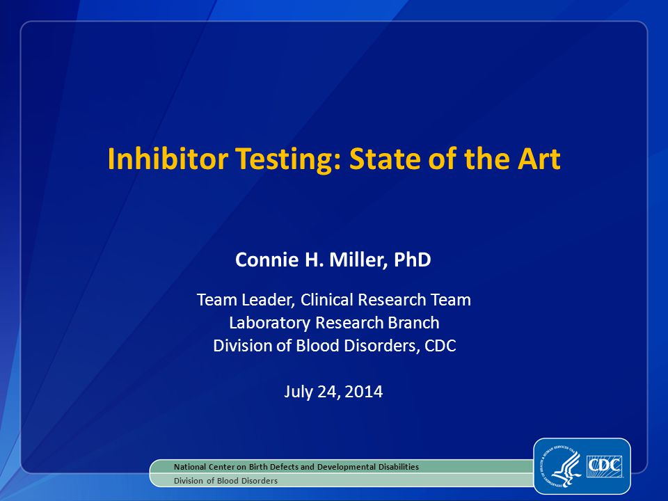 Inhibitor Testing: State of the Art