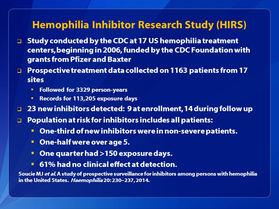 Hemophilia Inhibitor Genetics Study (HIGS) - Full Text ...