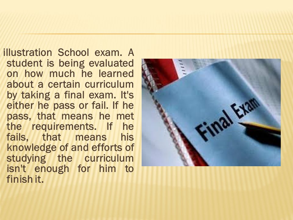 illustration School exam