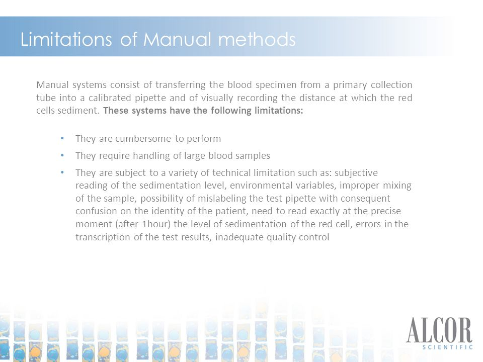 Limitations of Manual methods