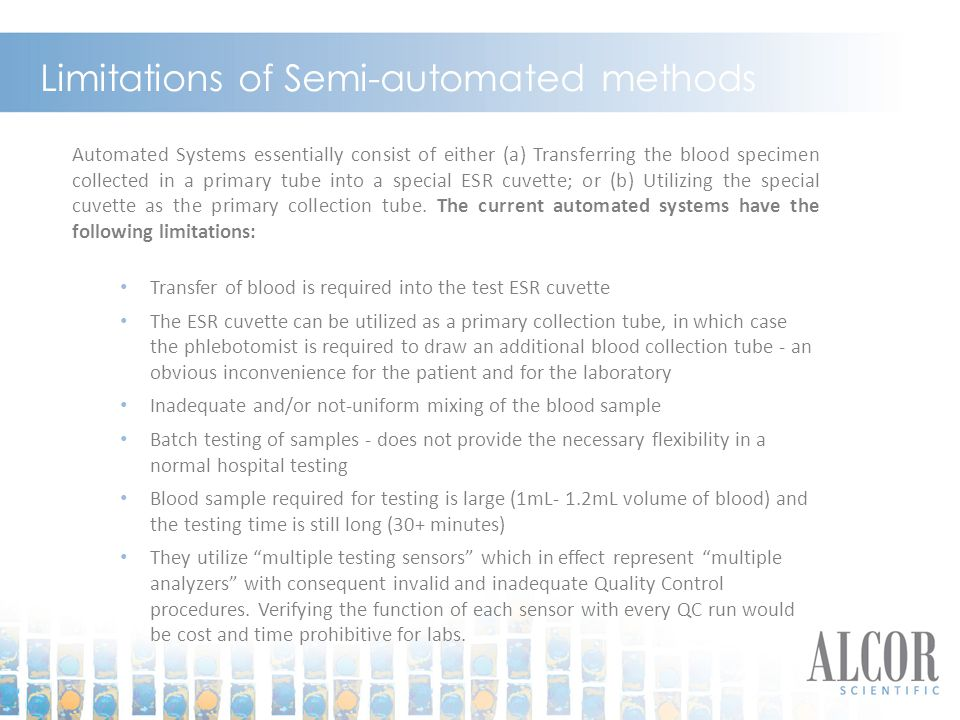 Limitations of Semi-automated methods