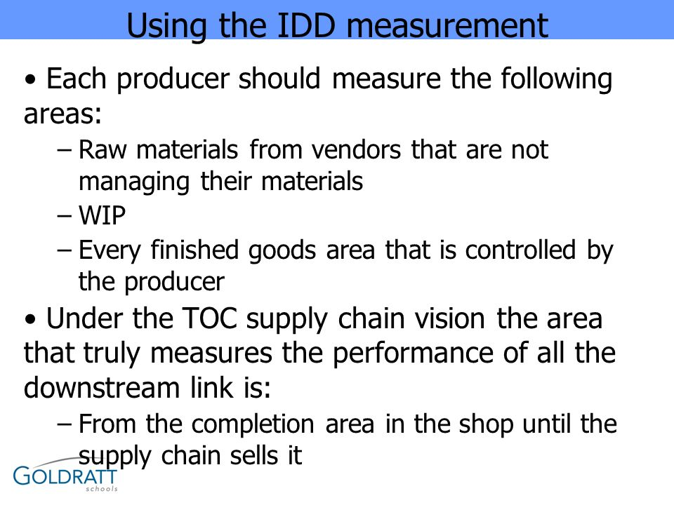 Using the IDD measurement