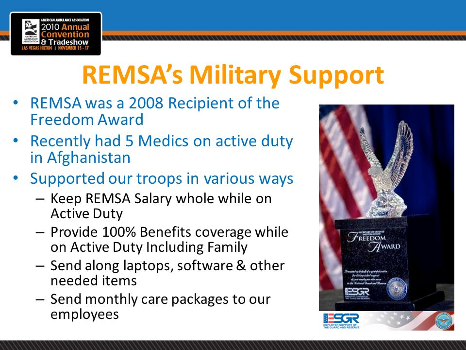 REMSA's Military Support