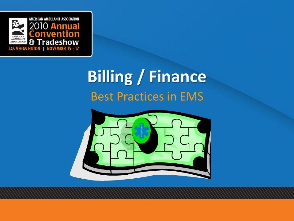 Billing / Finance Best Practices in EMS
