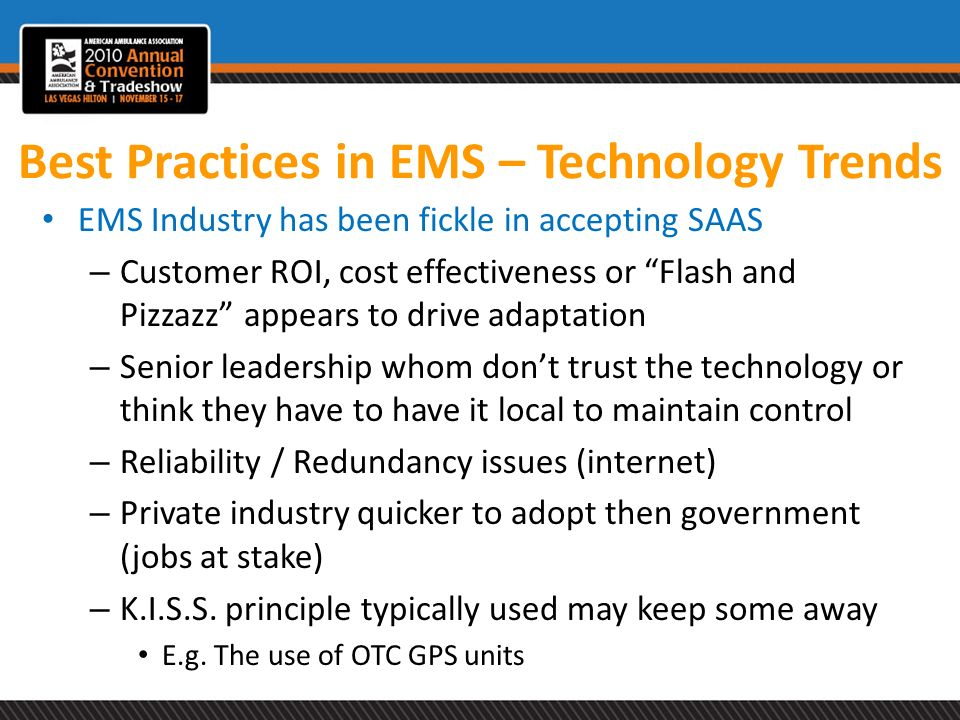 Best Practices in EMS – Technology Trends