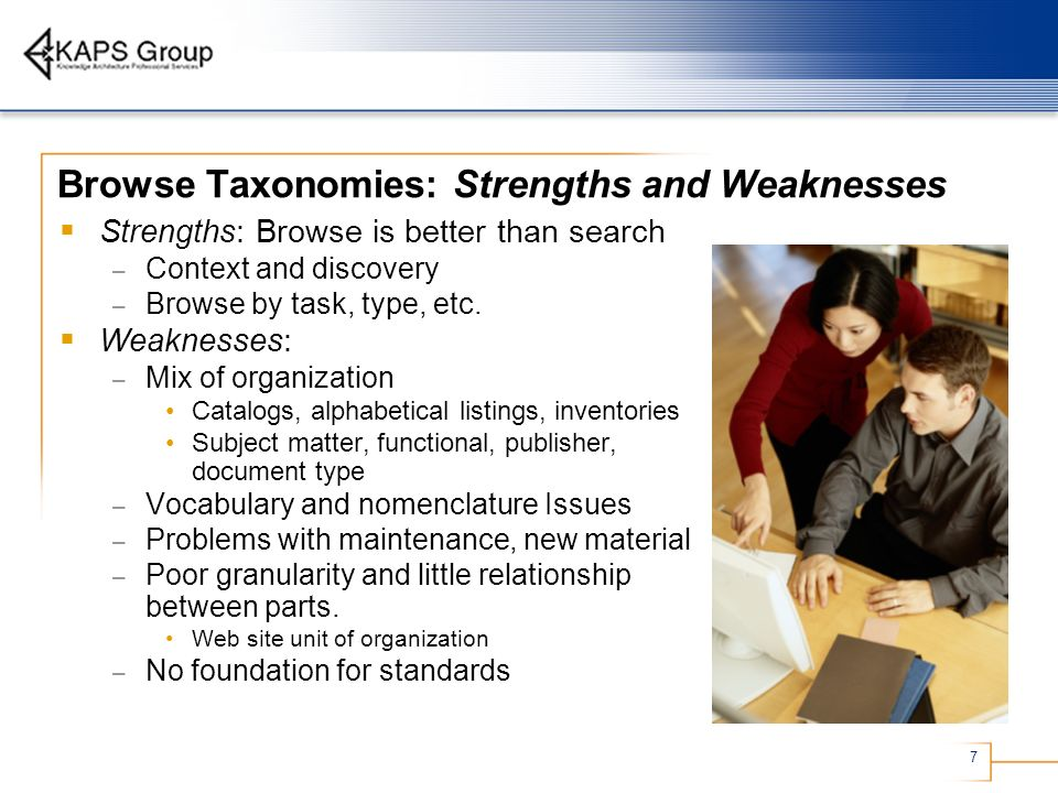 Browse Taxonomies: Strengths and Weaknesses