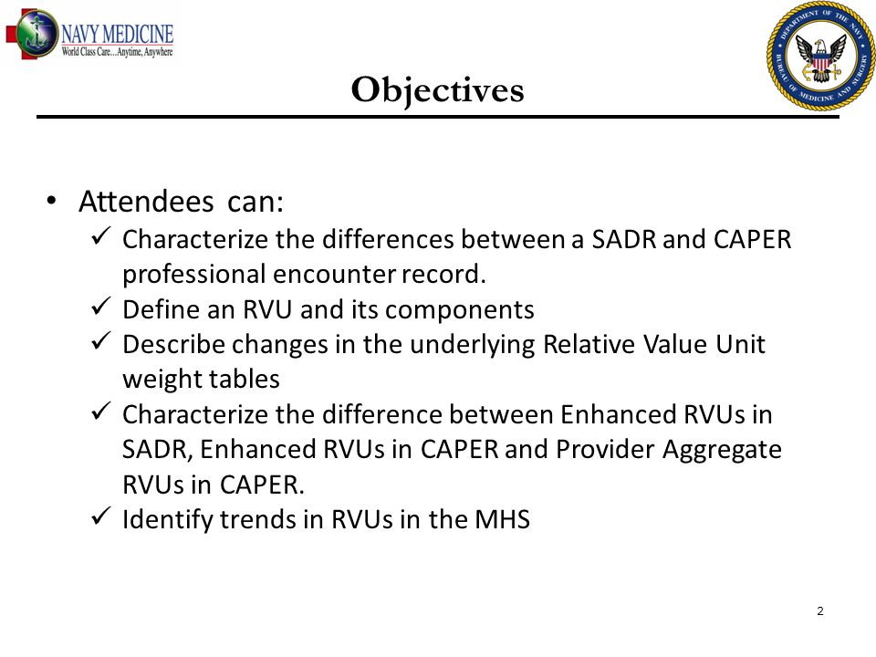 Objectives Attendees can: