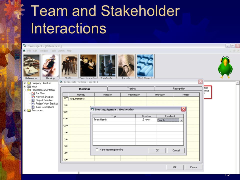 Team and Stakeholder Interactions