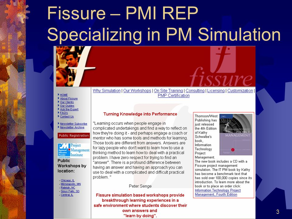 Fissure – PMI REP Specializing in PM Simulation