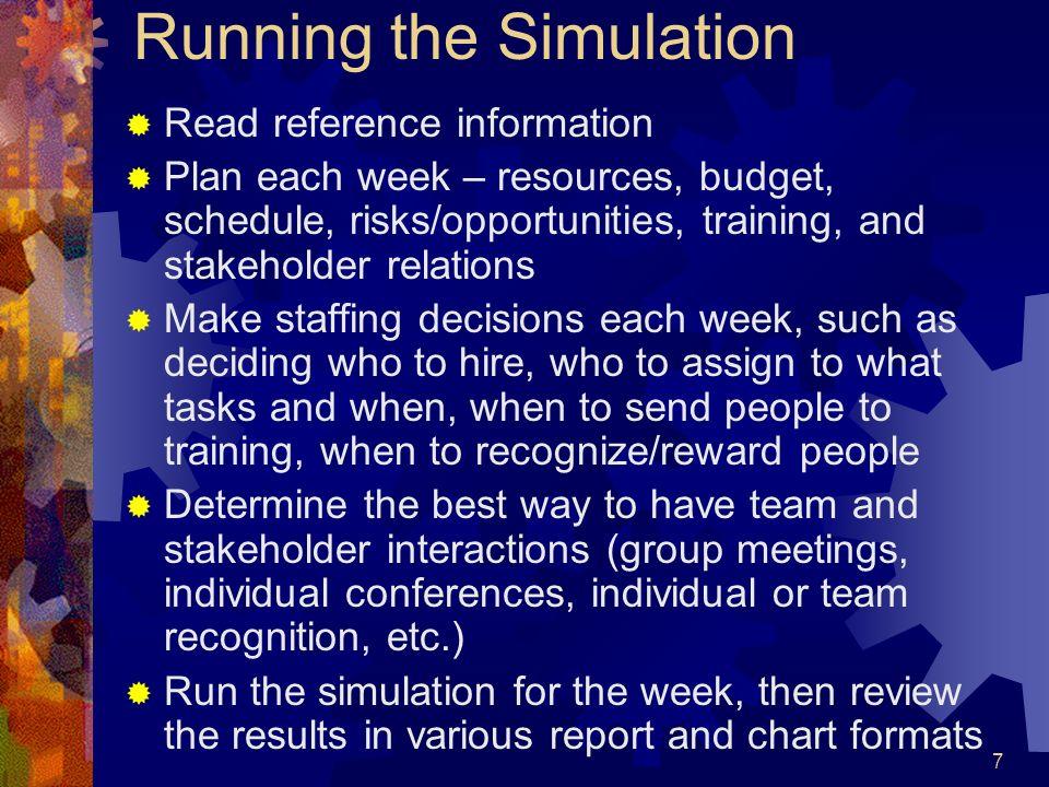 Running the Simulation