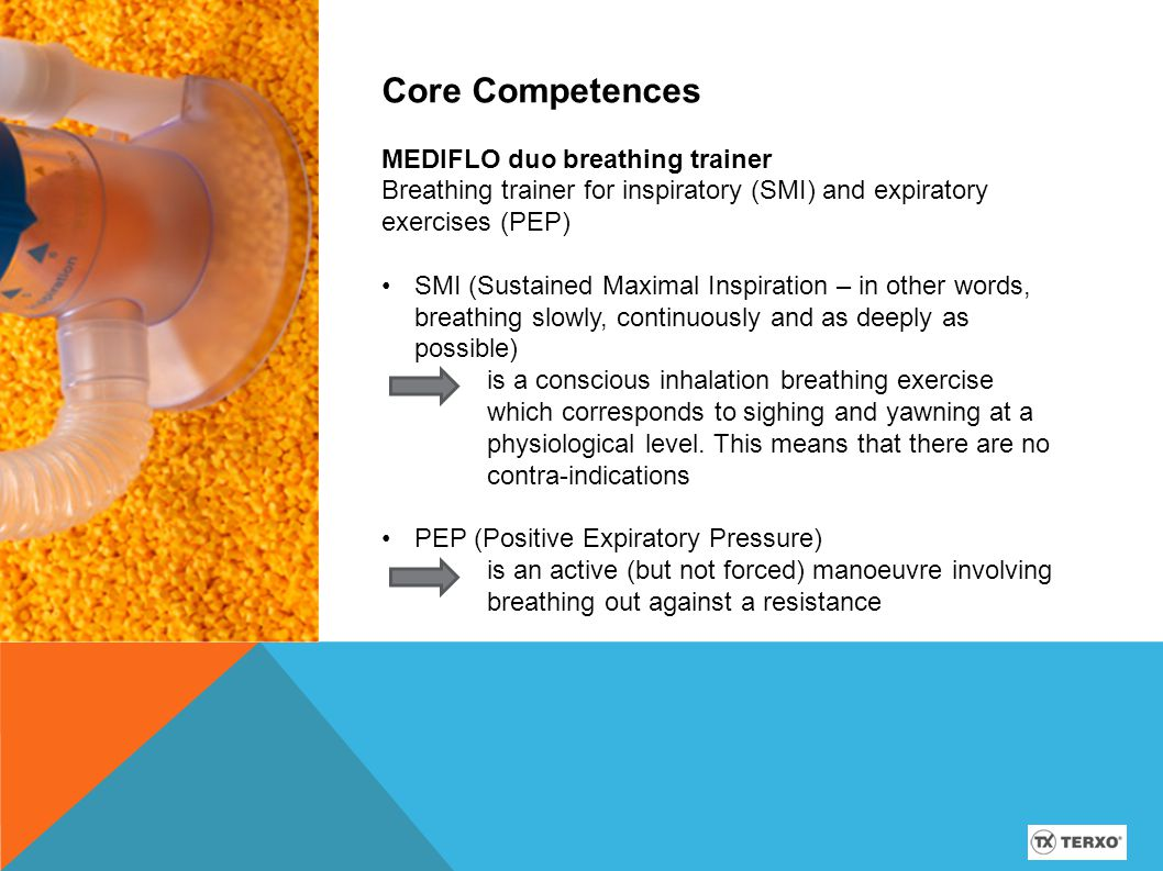 Core Competences MEDIFLO duo breathing trainer