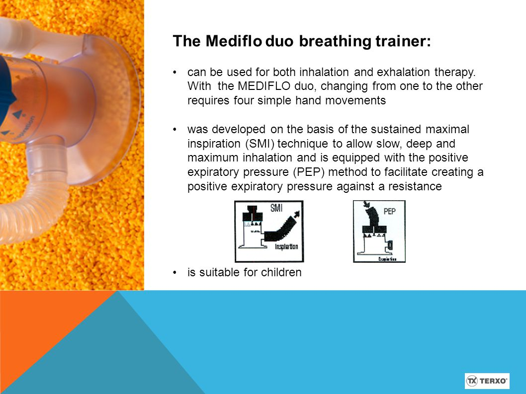 The Mediflo duo breathing trainer: