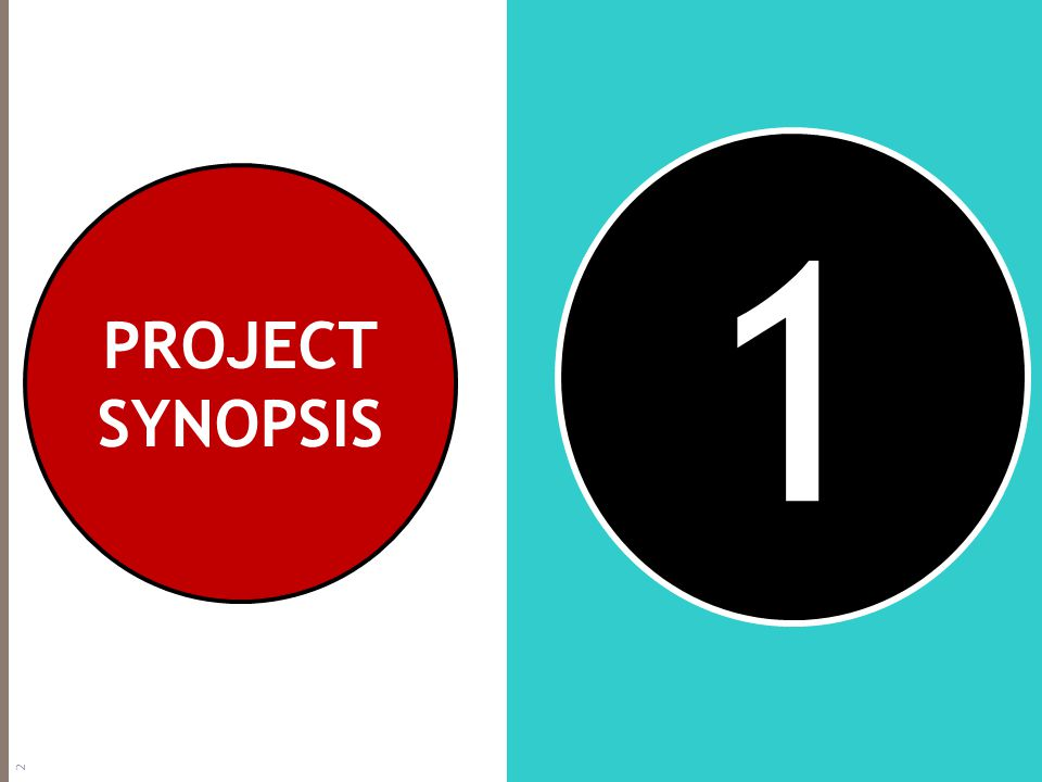 1 PROJECT SYNOPSIS 2